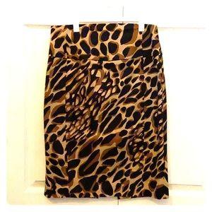 Express Animal Print Pencil Skirt